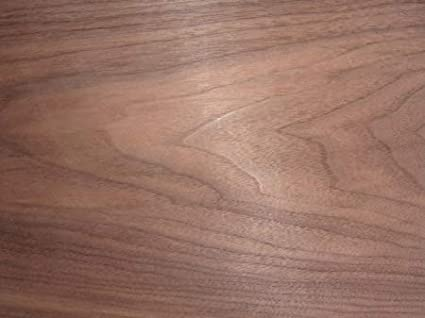 Pre Glued Iron on Walnut Wood Veneer Sheet 100inches x 10inches.Free Postage