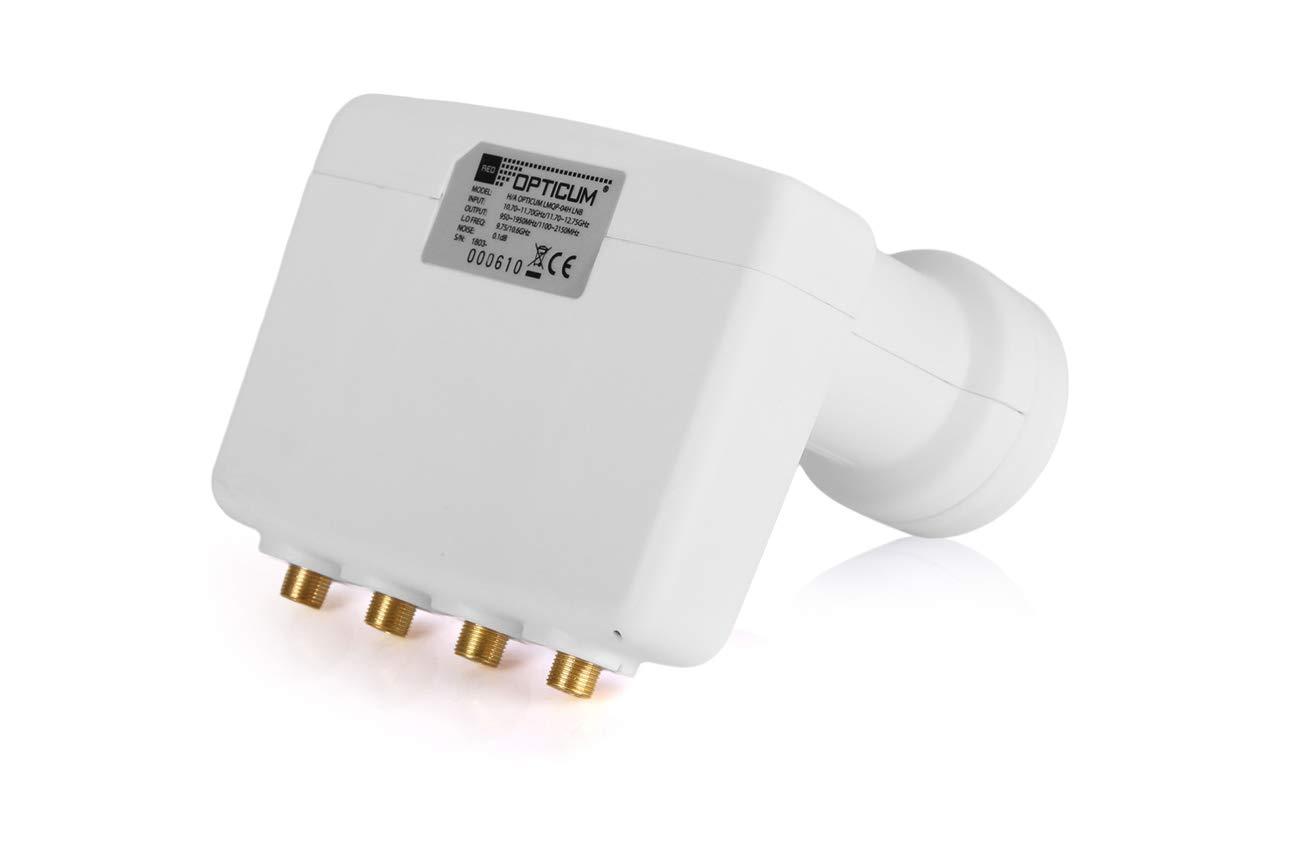 Astra//Hotbird full HD, 3D Opticum mono block Quad LNB e contatti placcati in oro contatti LMQP-04H