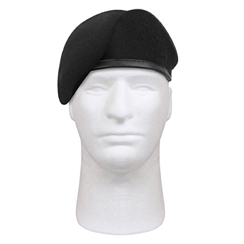 Rothco Gi Type Inspection Ready Beret, Black, 7.5