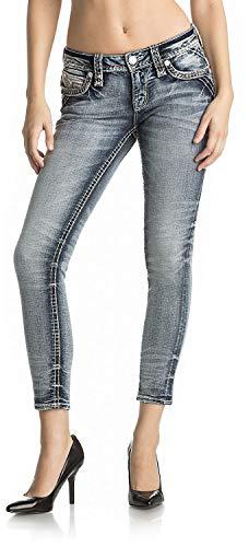 (Rock Revival - Womens Janli Rk201 Cropped Skinny Jeans, Size: 25, Color: Denim)