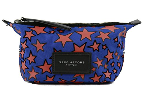 - Marc Jacobs Women's Flocked Stars Printed Landscape Pouch, Web Blue Multi, One Size
