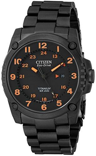 Citizen Men's BJ8075-58F Eco-Drive STX43 Shock-Proof Titanium Watch ()