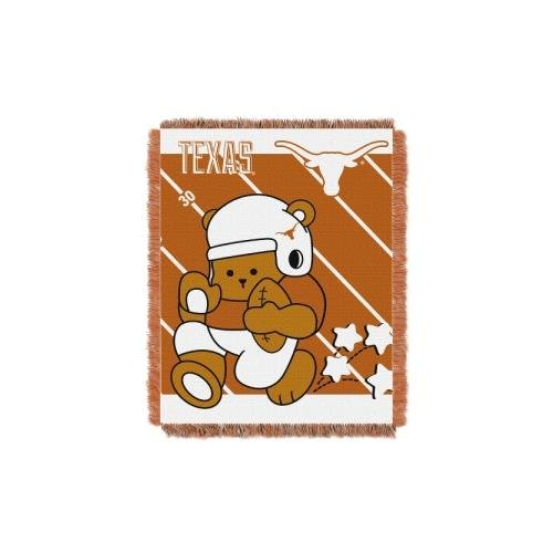 Officially Licensed NCAA Texas Longhorns Fullback Woven Jacquard Baby Throw Blanket, 36