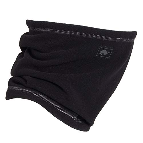 (Turtle Fur Single-Layer Lightweight Micro Fur Fleece Neck Warmer, Black)