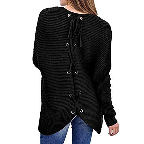 manches chauve femmes Zhrui femmes pour tricot Pullover couleur en manteau chemisier unie souris pour hiver longues Sweatshirt v8pqtrxw8