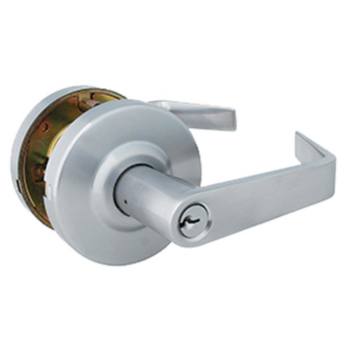 Global Door Controls Brushed Chrome Eiffel Style Commercial Storeroom Leverset with Removable Bolt - Levers Bolt Kit