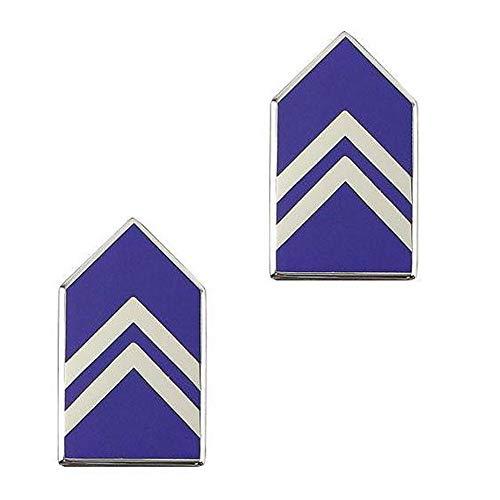 Officer Miniature - US Air Force ROTC Miniature Brite Enamel Officer Chevrons (GMC Third Class POC First lieutenant)