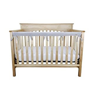 "Trend Lab Waterproof CribWrap Rail Cover - for Narrow Long Crib Rails Made to Fit Rails up to 8"" Around"