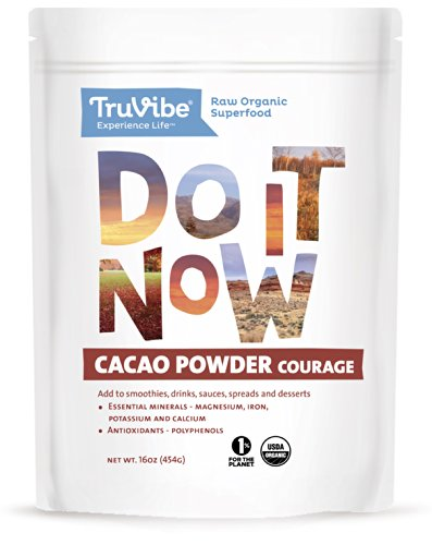 TruVibe 100% Organic Raw Cacao Powder, 16 ounces, Non-GMO Project Verified