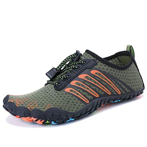 75bb0ad2f3 MAYZERO Summer Water Shoes Men Women Quick Drying Swim Surf Beach Pool Shoes  Wide Toe Hiking