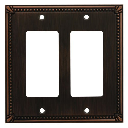 Cosmas 44098-ORB Oil Rubbed Bronze Double GFI / Decora Rocker Wall Switch Plate Switchplate -