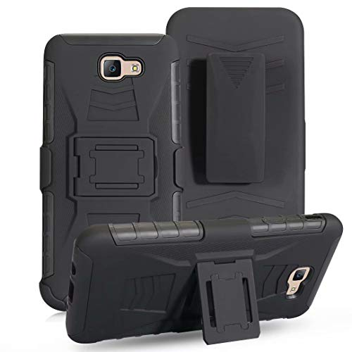 A5 2017 Case, Lantier Military Defender Shockproof Impact Protection Tough Hard Rugged Heavy Duty Dual Layer Protective Case with Kickstand Belt Clip Holster Combo for Samsung Galaxy A5 2017 A520 5.2""