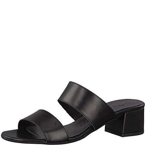 Tamaris Damen 27231 Pantoletten Black Leather