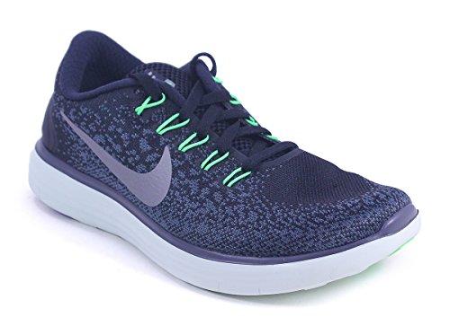 Nike Damen Wmns Free Rn Distance Laufschuhe Negro (blk / Mtlc Pwtr-brly Grn-vltg Gr)
