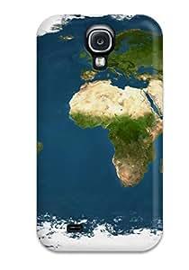 Galaxy S4 MiTduBg2828aHtcz Map Tpu Silicone Gel Case Cover. Fits Galaxy S4