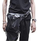 MIRUIKE Steampunk Purses and Handbags Waist Pack Leather Steampunk Bag Retro