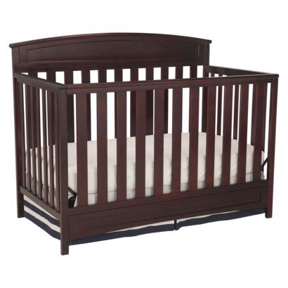 Delta Children's Sutton 4-in-1 Convertible Crib - coffee