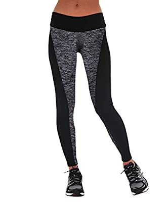 Manstore Women's Tights Active Yoga Running Pants Workout Leggings