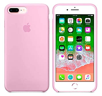 Desconocido Funda para iPhone 7 Plus / 8 Plus, Silicona Rosa Chicle Logo Apple Carcasa iPhone (iPhone 7 Plus / 8 Plus)