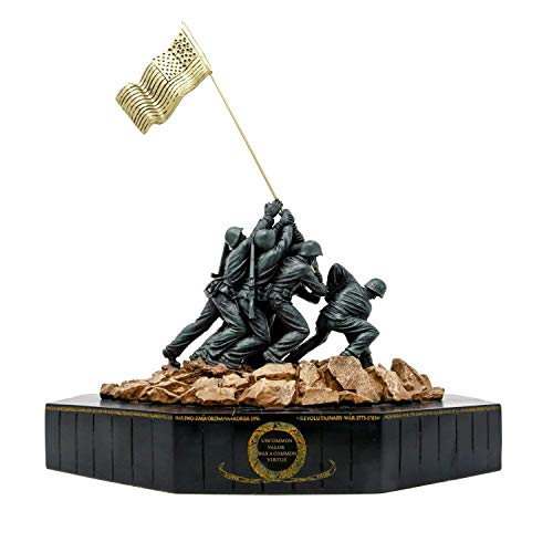 Large Marine Corps Iwo Jima Statue with Actual Sand from Iwo (Flag Raising On Iwo Jima)