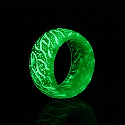SXFSE Rings for Women, Glow Galaxy Ring Christmas Ring Luminous Toy Size 7 to 11 for Kids Boy Girl Man Lady Gifts: Clothing