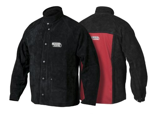 Lincoln Electric Heavy Duty Leather Welding Jacket   Ideal for High Amperage or Out of Position Welding   Large   K2989-L