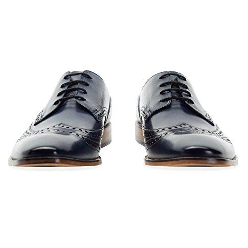 Leather Brogue Goodwin Uomo Navy Gisburn Smith Shoe Tan 9DeIYEH2W
