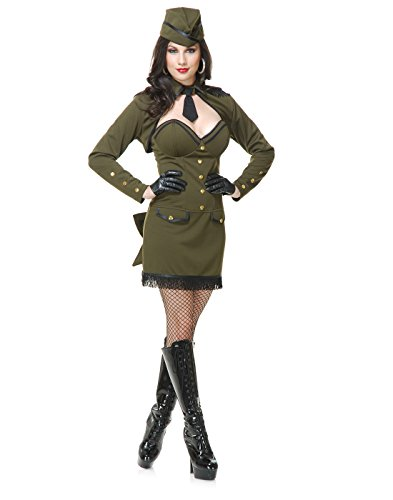 Sergeant Sassy Costume - Small - Dress Size (Pinup Halloween Costume)