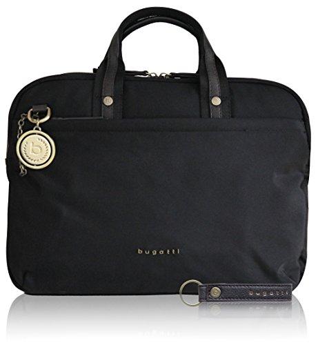 black bugatti bag Contratempo medium in women business noble for nylon RFID briefcase T4UqF