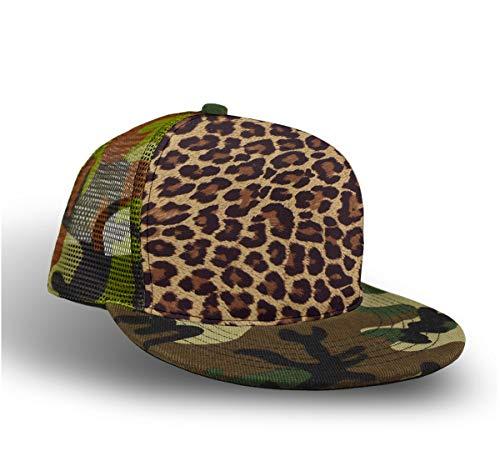 Cool Cheetah Leopard Baseball Cap Slouch Hat for Men Women Unisex, Fitted Snapback Hat Tennis Cap Runner Cap, Foldable Sun Protection Hip Pop Dad Cap Trucker Cap, Camo ()
