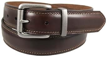 Dickies Men's 35Mm Feather Edge Nickel Belt,Brown,32