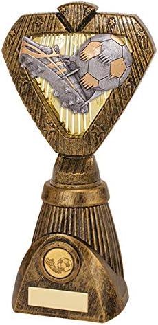 Trofeo de balón y Bota de fútbol Hero Frontier, Plata y Oro, 250 ...