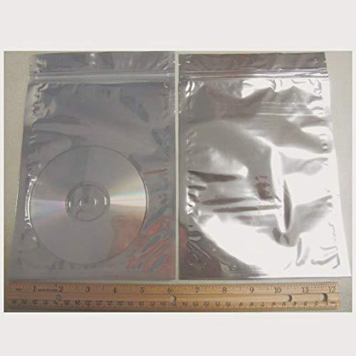 50 Silver Aluminum Foil Mylar 6x8 Recloseable Bag Clear Front AL-3 US Seller Ship Fast