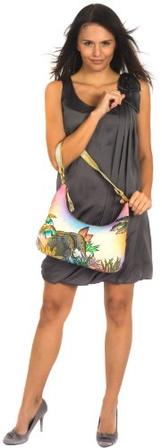 ZIMBELMANN MICHAELA Genuine Nappa Leather Hand-painted Hobo Shoulder Bag Purse by Zimbelmann (Image #6)