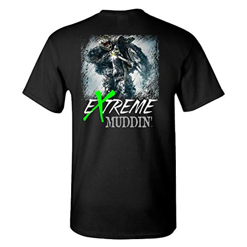 Extreme Muddin' Motocross Dirt Bike on a Black T Shirt - Small (Best 250 Motocross Bike)