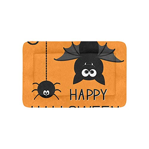 Chawzie Halloween Orange Scary Eye Flying Bat Extra Large Bedding Soft Pet Dog Beds Couch for Puppy and Cats Furniture Mat Cave Pad Cover Cushion Indoor Gift Supplier 36 X 23 Inch ()