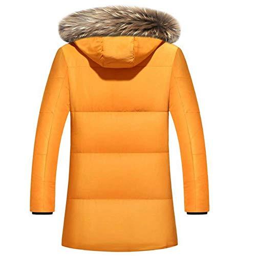 Invernale Moda Classico Yellow Donna Piumino In Con Famlyjk Cappuccio gwfCv1qf7