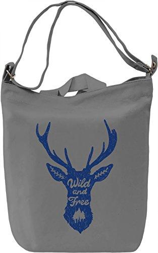 Wild n free Borsa Giornaliera Canvas Canvas Day Bag  100% Premium Cotton Canvas  DTG Printing 