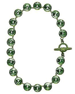 Juicy Couture Multi Gemstone Necklace YJRU6268 - Lime Green