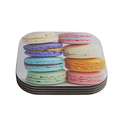 kess-inhouse-libertad-leal-i-want-macaroons-coasters-4-by-4-inch-multicolor-set-of-4