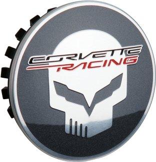 (2014+ C7 Stingray Corvette Racing Chrome Center Caps w/Jake Skull - Set of)