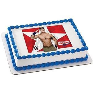 World Wrestling John Cena Edible Cake Cupcake Cookie Image 14 Sheet by Whimsical Practicality