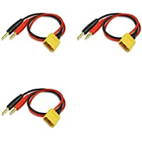 3 x Quantity of Walkera Runner 250 (R) Advanced GPS Quadcopter Drone XT-60 Charge Cable W/ Male XT60 To 4mm Banana Plug (1pc) - FAST FREE SHIPPING FROM Orlando, Florida USA!