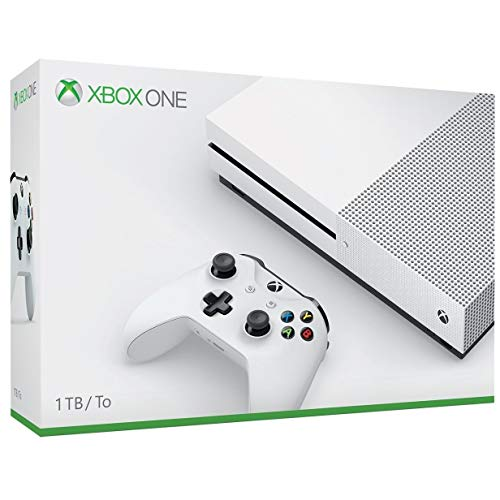 Microsoft Xbox One S 1TB Console with Xbox One Wireless Controller – Robot White