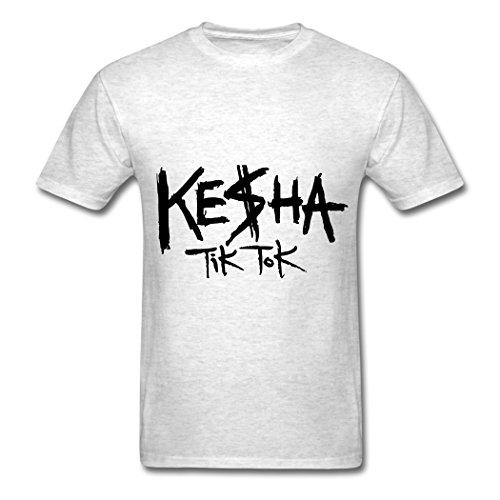 Price comparison product image TY kesha tik tok logo T Shirt For Men Light oxford M