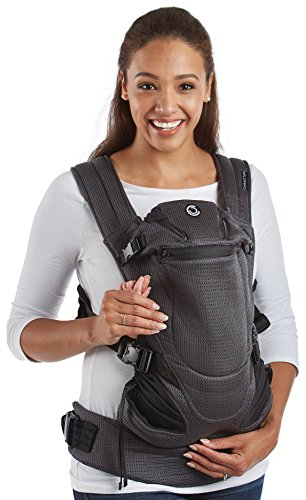Contours Love 3-in-1 Baby & Child Carrier with 3 Seating Positions, Easy to Wear Front Buckles, Extra-wide Padded Shoulder Straps, Gray by Contours