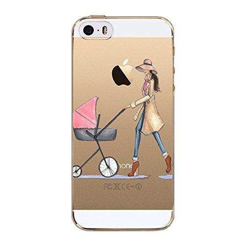 iPhone 6 / 6S, City Girl Loves Dress Heels Model Ultra Slim Case Bumper Cover (Versatile Mom)