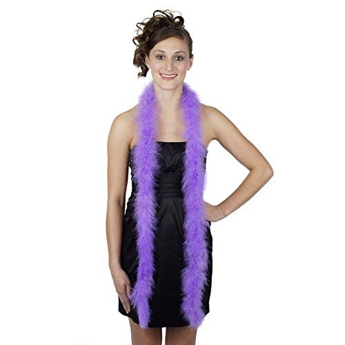 ZUCKER Marabou Boa Medium Weight Solid Color - Lavender - Lavender Boa