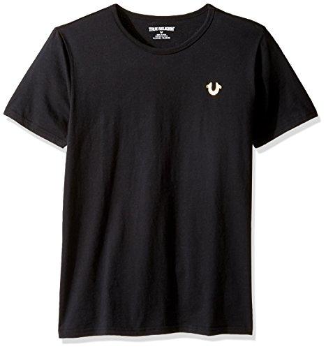 True Religion Boys' Big Logo Tee Shirt, Black-79, XL ()
