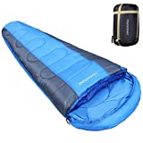 sleeping bag - HOMEMAXS Sleeping Bags for Adults Hiking Sleeping Bag Lightweight Compact Mummy Sleeping Bags for Camping Backpacking 350GSM